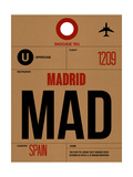 MAD Madrid Luggage Tag 2 Prints by  NaxArt