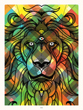 Delicious Lion Serigraph by  Delicious Design League