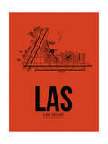 LAS Las Vegas Airport Orange Prints by  NaxArt