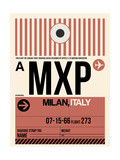 MXP Milan Luggage Tag 1 Print by  NaxArt