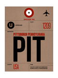 PIT Pittsburgh Luggage Tag 1 Plakater af  NaxArt