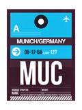 MUC Munich Luggage Tag 1 Print by  NaxArt