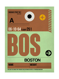 BOS Boston Luggage Tag 1 Posters by  NaxArt
