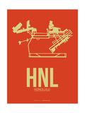 HNL Honolulu Airport 3 Poster by  NaxArt