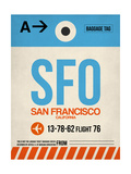 SFO San Francisco Luggage Tag 1 Póster por NaxArt