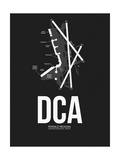 DCA Washington Airport Black Poster by  NaxArt