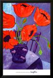 Poppies in Blue Room Kunstdrucke von  Loughlin