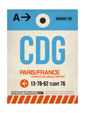CDG Paris Luggage Tag 2 Prints by  NaxArt