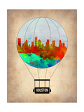 Houston Air Balloon Print by  NaxArt