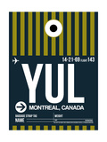 YUL Montreal Luggage Tag 1 Poster by  NaxArt