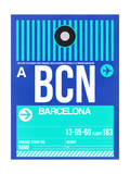 BCN Barcelona Luggage Tag 2 Prints by  NaxArt