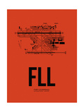 FLL Fort Lauderdale Airport Orange Posters by  NaxArt