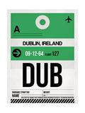 DUB Dublin Luggage Tag 1 Plakaty autor NaxArt