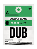 DUB Dublin Luggage Tag 1 Poster by  NaxArt