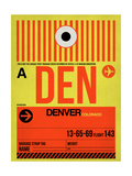 DEN Denver Luggage Tag 1 Art by  NaxArt