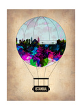 Istanbul Air Balloon Poster by  NaxArt