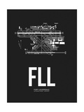 FLL Fort Lauderdale Airport Black Prints by  NaxArt