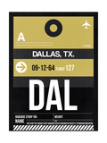 DAL Dallas Luggage Tag 2 Posters by  NaxArt