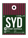 NaxArt - SYD Sydney Luggage Tag 2 - Art Print