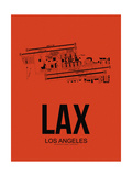 LAX Los Angeles Airport Orange Prints by  NaxArt