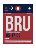 BRU Brussels Luggage Tag 2 Prints by  NaxArt
