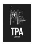 TPA Tampa Airport Black Print by  NaxArt