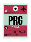 PRG Prague Luggage Tag 2 Prints by  NaxArt