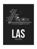 LAS Las Vegas Airport Black Posters by  NaxArt