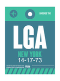 LGA New York Luggage Tag 2 Print by  NaxArt