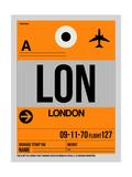 LON London Luggage Tag 1 Plakaty autor NaxArt