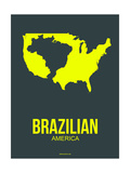 Brazilian America Poster 2 Poster por NaxArt