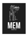 MEM Memphis Airport Black Posters by  NaxArt