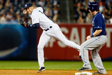 Jun 30, 2014, Tampa Bay Rays vs New York Yankees - Derek Jeter, Ryan Hanigan Photographic Print by Jim McIsaac