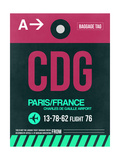 CDG Paris Luggage Tag 1 Poster af  NaxArt