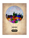 Copenhagen Air Balloon Print by  NaxArt