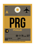 PRG Prague Luggage Tag 1 Print by  NaxArt