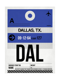DAL Dallas Luggage Tag 1 Prints by  NaxArt