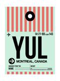 YUL Montreal Luggage Tag 2 Reprodukcje autor NaxArt