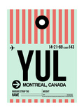 YUL Montreal Luggage Tag 2 Prints by  NaxArt
