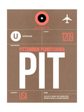 PIT Pittsburgh Luggage Tag 2 Print by  NaxArt