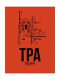 TPA Tampa Airport Orange Prints by  NaxArt