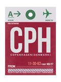 CPH Copenhagen Luggage Tag 2 Prints by  NaxArt
