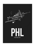 PHL Philadelphia Airport Black Posters by  NaxArt