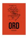 ORD Chicago Airport Orange Prints by  NaxArt