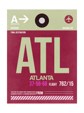 ATL Atlanta Luggage Tag 2 Posters by  NaxArt