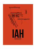 IAH Houston Airport Orange Art by  NaxArt