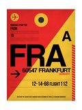 FRA Frankfurt Luggage Tag 2 Prints by  NaxArt
