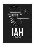 IAH Houston Airport Black Posters by  NaxArt