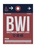 BWI Baltimore Luggage Tag 2 Posters by  NaxArt