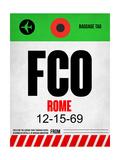 FCO Rome Luggage Tag 1 Plakaty autor NaxArt